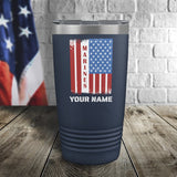 Marines Flag Personalized Color Printed Tumbler