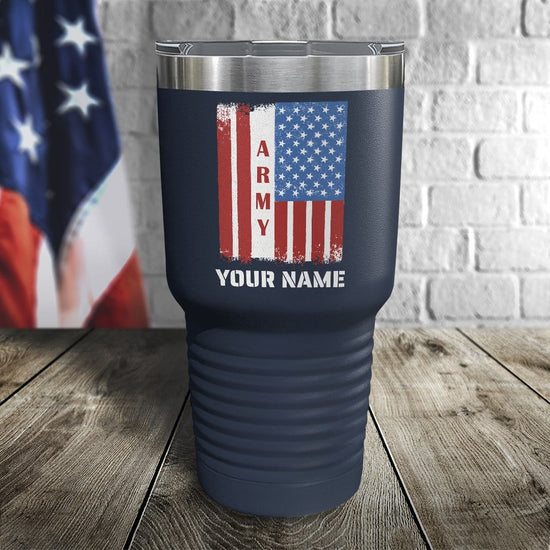 Army Flag Personalized Color Printed Tumbler
