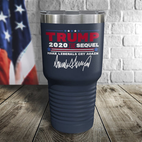 Trump 2020 The Sequel Signature Navy 30oz Color Printed Tumbler