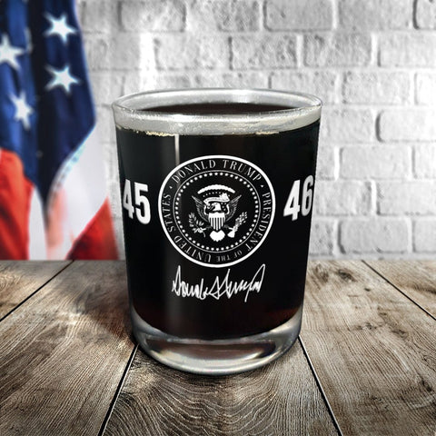 White Seal Trump Signature Glassware