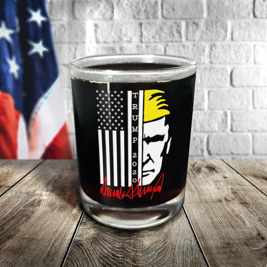 Trump 2020 Flag Glassware