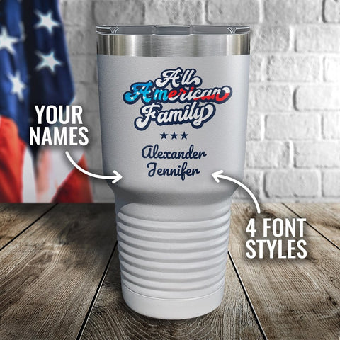 All American Family Personalized Color Printed Tumbler