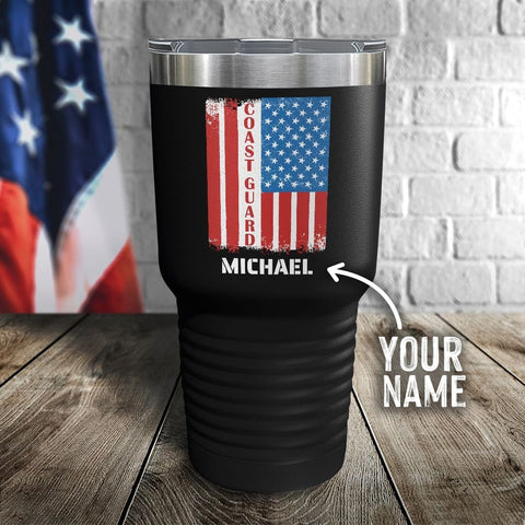 Coast Guard Flag Personalized Color Printed Tumbler