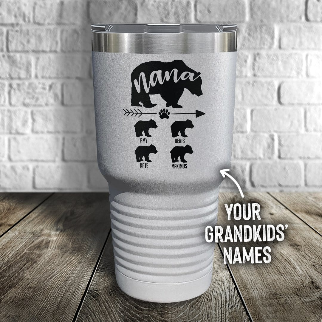 Nana Bear Personalized Color Printed Tumbler