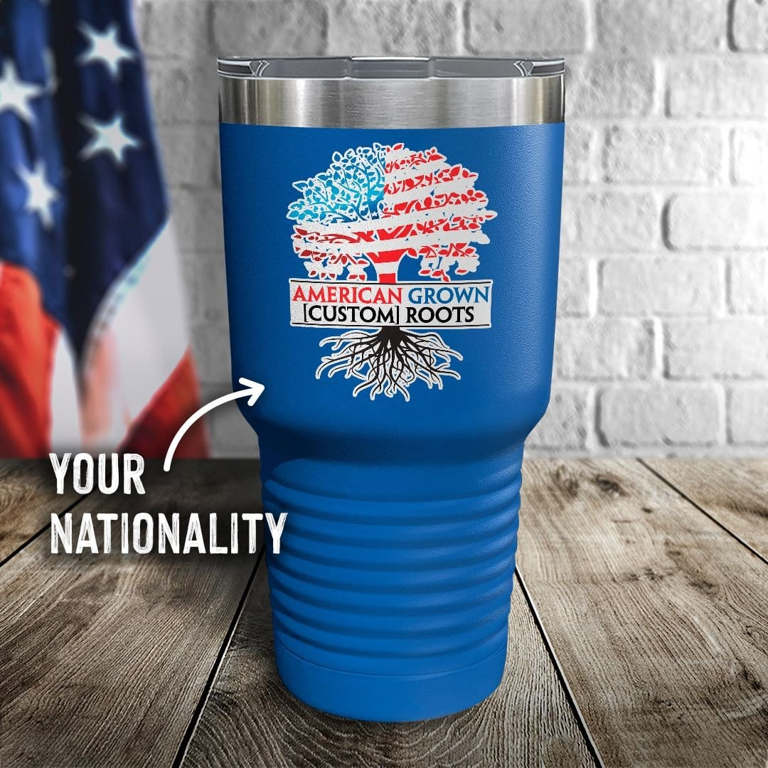 American Grown Personalized Color Printed Tumbler
