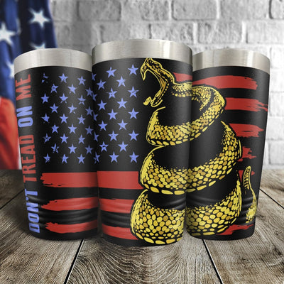 Don't Tread on Me Full Color Wrap Tumbler