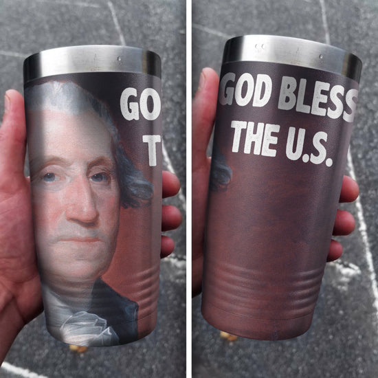 God Bless The U.S. Full Color Wrap Tumbler