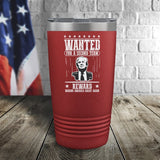 SALE! Trump Wanted For A Second Term Reward Making America Great Again Color Printed Tumbler