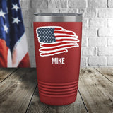 US Flag Personalized Color Printed Tumbler