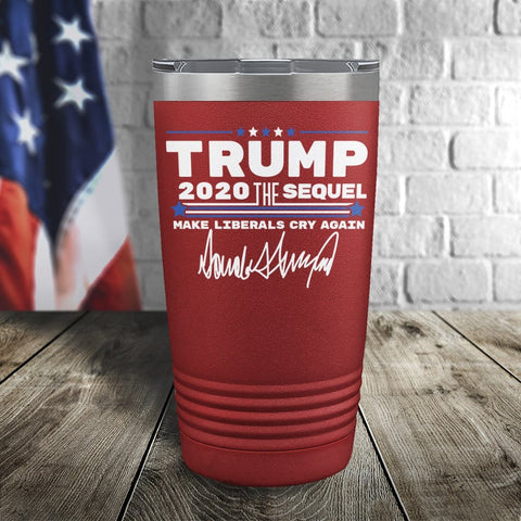 Trump 2020 The Sequel Signature Red 20oz Color Printed Tumbler