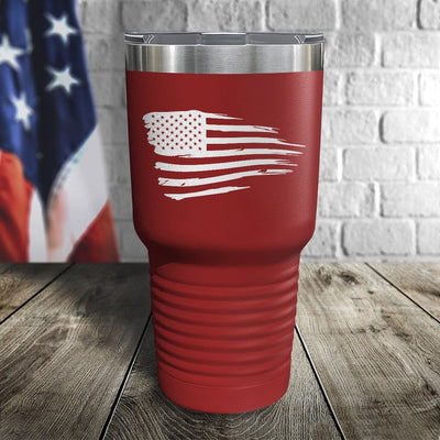 Tethered Flag Color Printed Tumbler