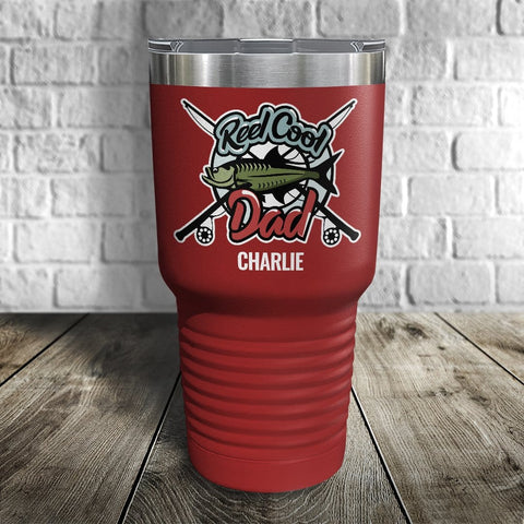Reel Cool Dad Personalized Color Printed Tumbler