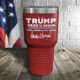 Trump 2020 The Sequel Signature Red 30oz Color Printed Tumbler