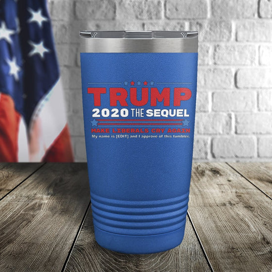 Personalized Trump 2020 I Approve This Tumbler Color Printed Tumbler
