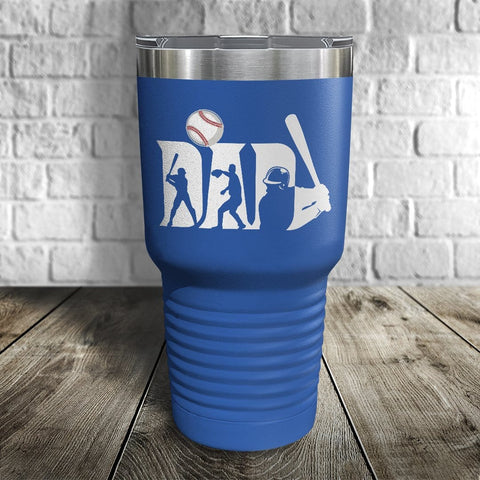 Baseball Dad Color Printed Tumbler