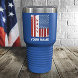 Navy Flag Personalized Color Printed Tumbler