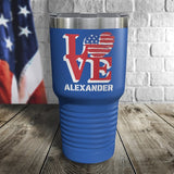 LOVE USA Personalized Color Printed Tumbler