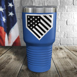 Homeplate Black and White Color Printed Tumbler