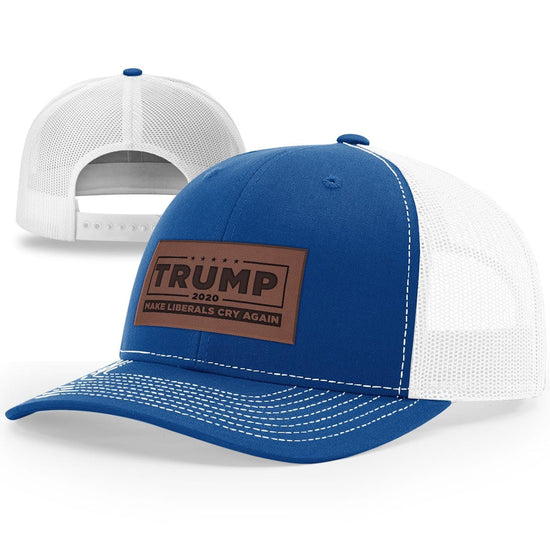 Trump 2020 Make Liberals Cry Again Leather Patch Hat