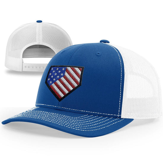 Home Plate USA Flag Hat