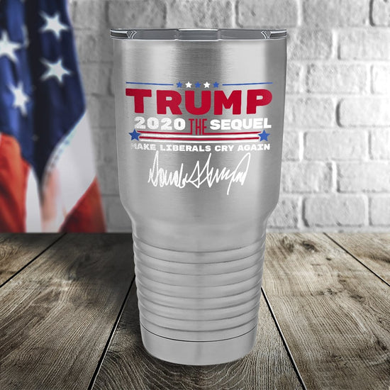 Trump 2020 The Sequel Signature Stainless Steel 30oz Color Printed Tumbler