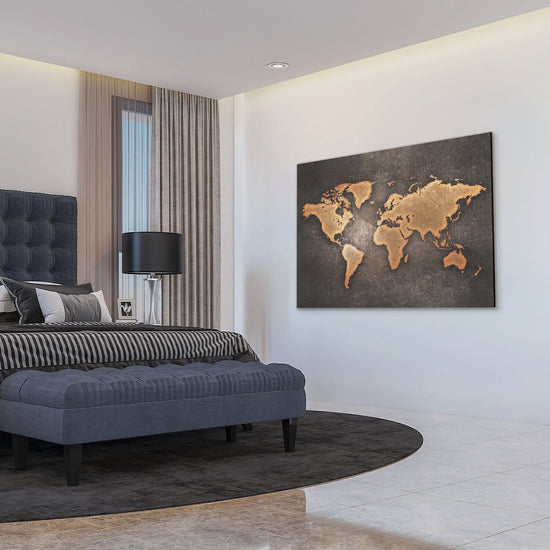 The World Map Premium Canvas