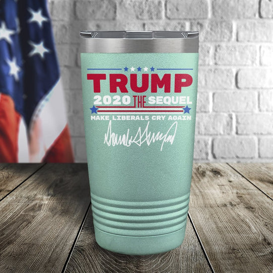 Trump 2020 The Sequel Signature Teal 20oz Color Printed Tumbler