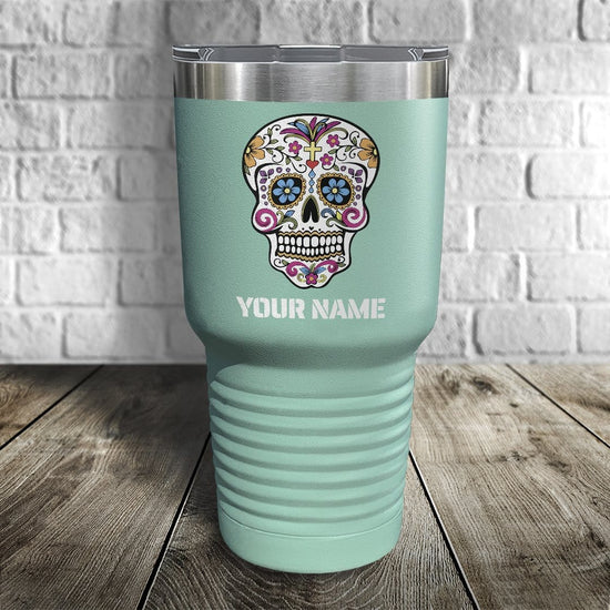 Calavera Personalized Color Printed Tumbler