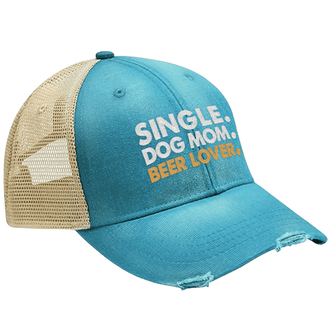 Single Dog Mom Beer Lover Hat