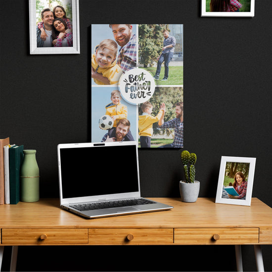 Best Father Ever Custom Photos Canvas