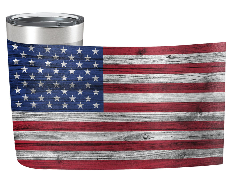 American Flag Full Color Wrap Tumbler