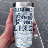 I'm On The Other Line Personalized Full Color Wrap Tumbler