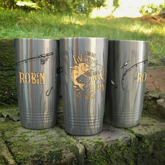 A Bad Day Fishing Personalized Full Color Wrap Tumbler