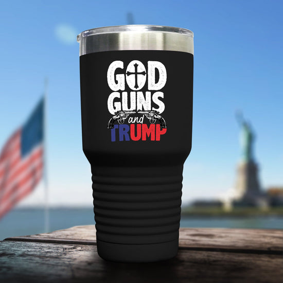 God, Guns And Trump Color Printed Tumbler