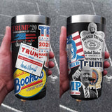 Trump Sticker Collage Full Color Wrap Tumbler
