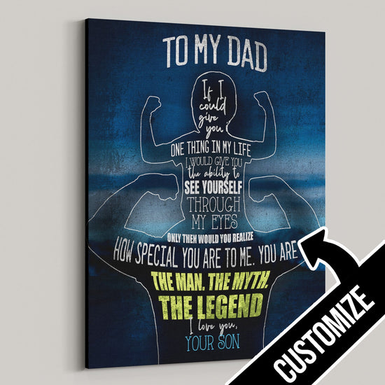 To My Dad - From Son Personalized Canvas