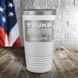 Trump 2020 The Sequel Signature Laser Etched Tumbler