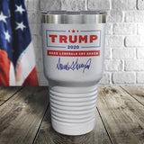 Trump 2020 Make Liberals Cry Again Signature White Color Printed Tumbler