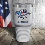 All American Dad Personalized Color Printed Tumbler