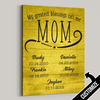 My Greatest Blessings Call Me Mom Rustic Dark Split Canvas - Patriot Republic