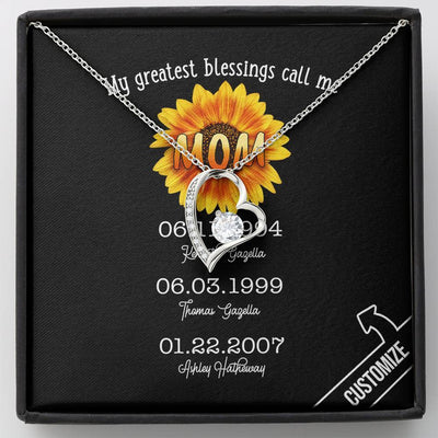 My Greatest Blessing Call Me Personalized Forever Love Necklace - Patriot Republic