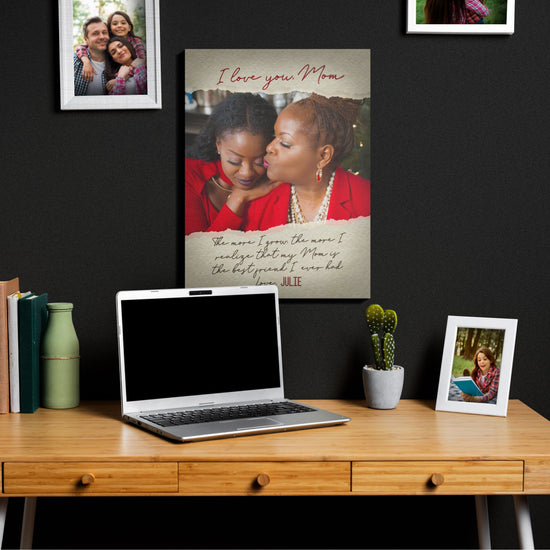 The More I Grow - Custom Photo Canvas - Gift for Mom