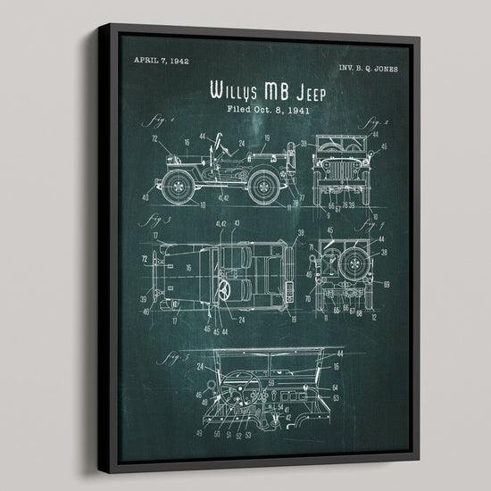 Willys MB Jeep Patent Canvas
