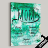My Greatest Blessings Call Me Mom Green Marble Canvas - Patriot Republic