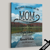 My Greatest Blessings Call Me Mom Lake Canvas - Patriot Republic
