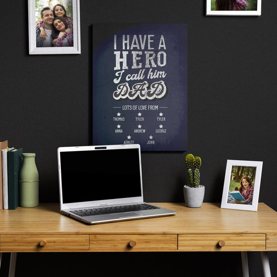 I have a Hero Personalized Canvas
