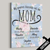 My Greatest Blessings Call Me Mom Blue/Pink Flower Canvas - Patriot Republic