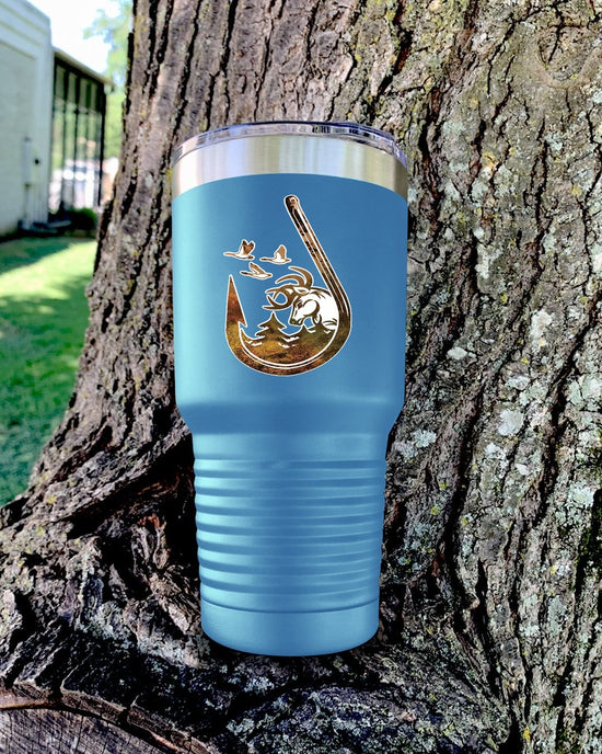 Fishing Hook Color Printed Tumbler