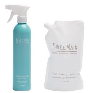 ThreeMain Multi-Surface Spray with Hydrogen Peroxide Disinfecting Power, Lemon Scent, 16 oz