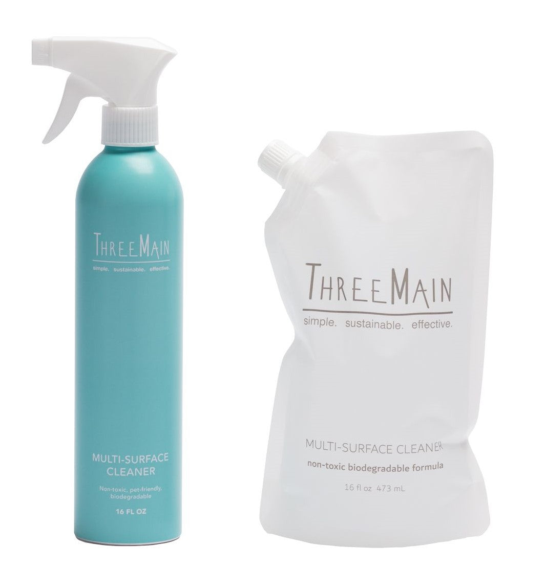 ThreeMain Multi-Surface Cleaner - Bottle and Refill